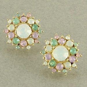 Multicolor Austrian Crystal earrings